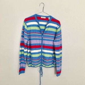 Lord & Taylor Striped Cashmere Sweater